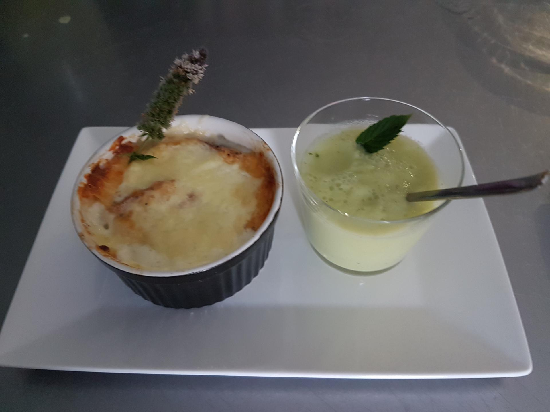 Gratiné et son Smoothie courgettes